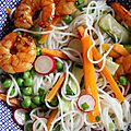 Carte postale estivale – salade de gambas façon viet'