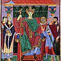 Maître de Reichenau fin Xe s - Miniature - Otton III reçoit hommage des provinces - Evangéliaire - Munich - Clm 4453 f25r