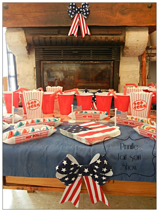sweet table anniversaire usa miss america prunillefee
