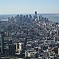 Manhattan. vue de l'empire state building.