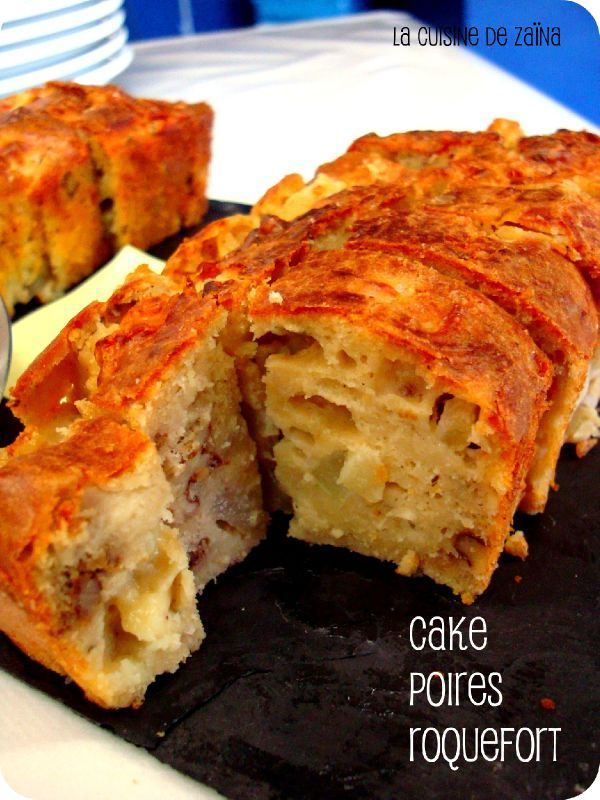 cake poires roquefort