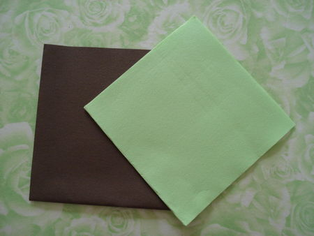 Pliage de serviette en papier 2 couleurs papillon - Pliage de serviettes 2 couleurs ...