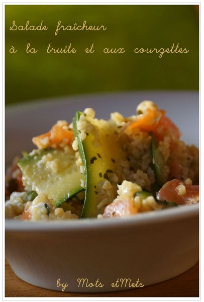 Salade truite et courgettes 1