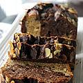 Cake marbré aux amandes effilées (ig bas ... ou pas !)