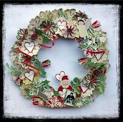Couronne de Noël - Des idées plein le Scrap