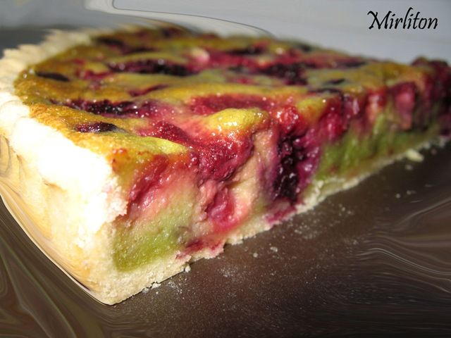 tarte aux fruits rouges et pistaches de christophe felder - mirliton