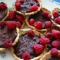 tartelettes choco-framboise