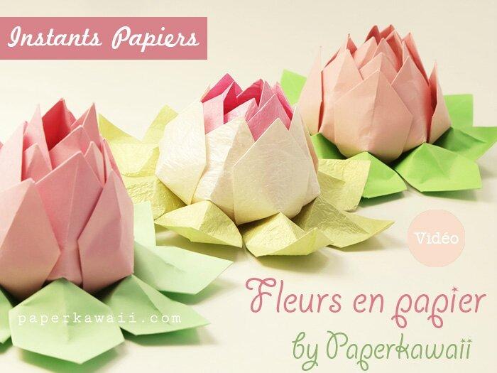 Tr s jolies petites fleurs de lotus instants papiers - Fleur a faire soi meme ...
