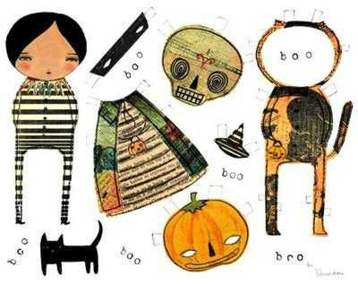 Danita art Halloween Paper Doll-A