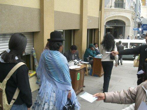 La Paz, avocats dans la rue