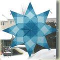 Étoile en papier de soie