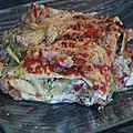 Lasagnes brocoli, courgette, poivron, lardons