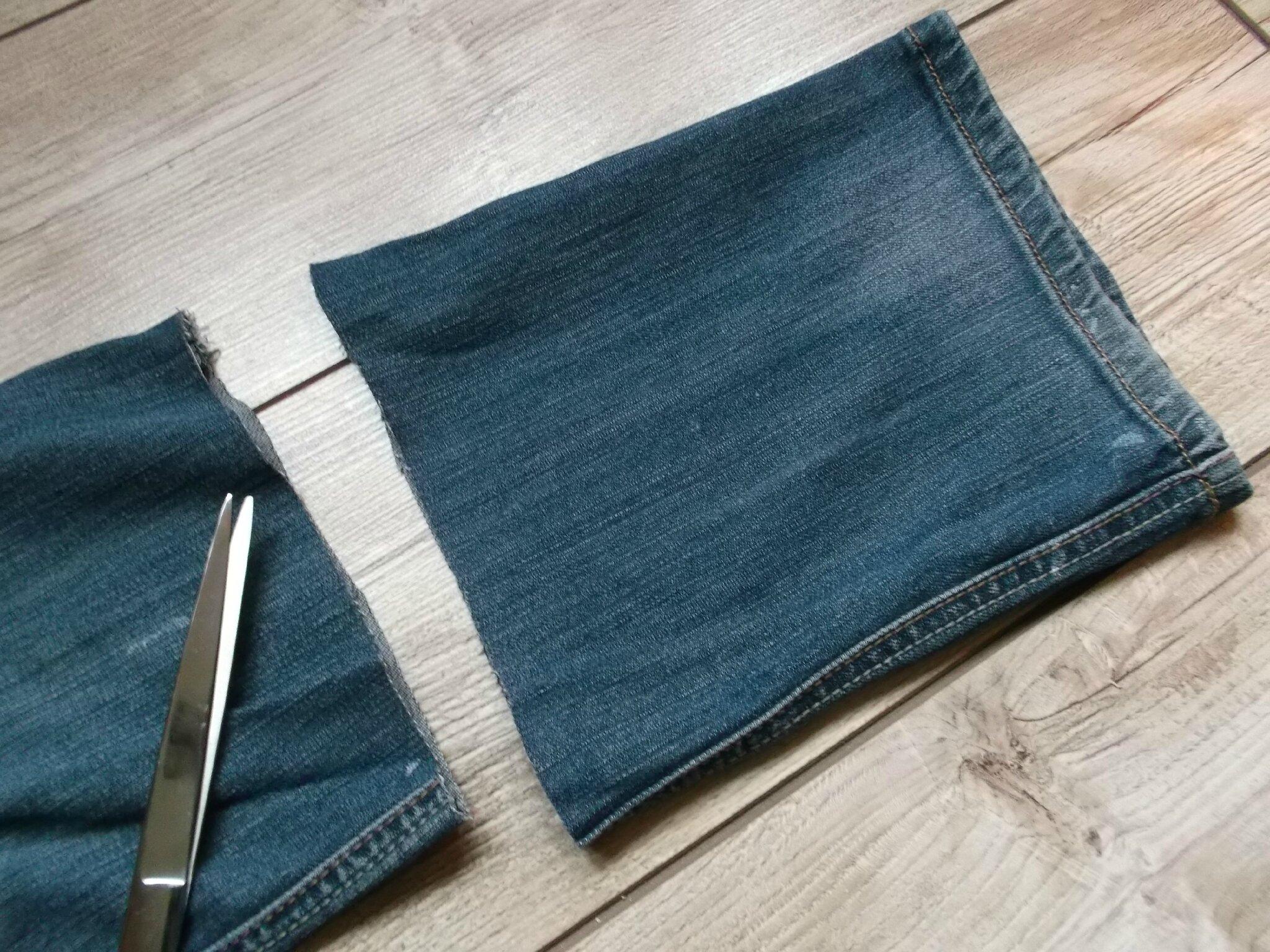 Avec mon vieux jean cam drey bricolent - Faire un ourlet de jean ...