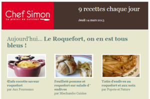 CHEF SIMON feuillet pomme roquefort