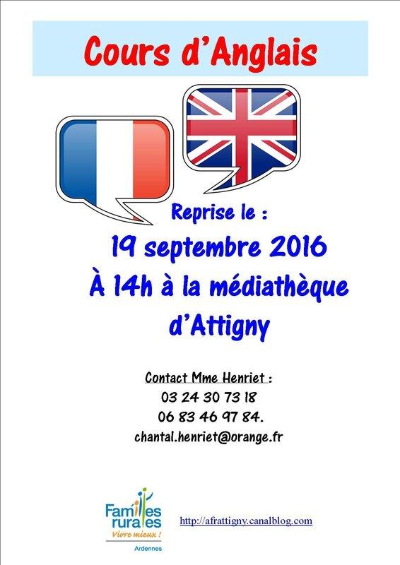 affiche anglais 2016