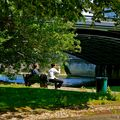 Le pont de Neuilly depuis l'île du Pont.