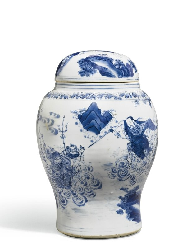 A Blue and White Baluster Jar and Cover, Circa 1640
