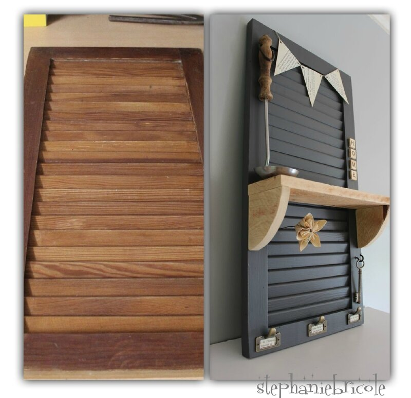 d co murale avec une persienne diy recup st phanie bricole. Black Bedroom Furniture Sets. Home Design Ideas