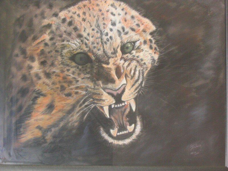 Panthere au pastel sec photo de animaux le blog du dessin - Dessin au pastel sec ...