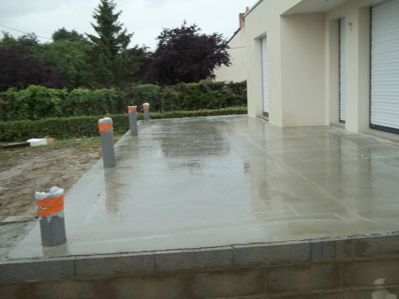 Mod le decoration terrasse beton sonta berry - Couler une dalle beton exterieur ...