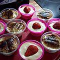 Tiramisu traditionnel et de fraises