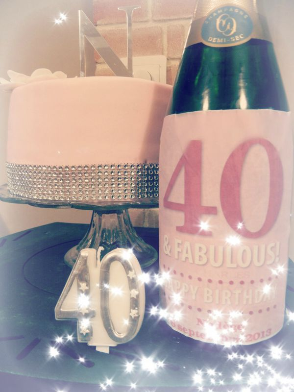 label champagne bottle 40 th birthday blog