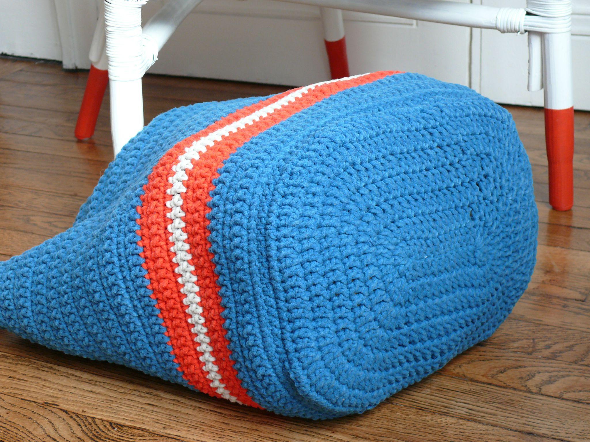 Cabas d co pour mes tricots bee made - Tuto pour creer un sac en crochet ...