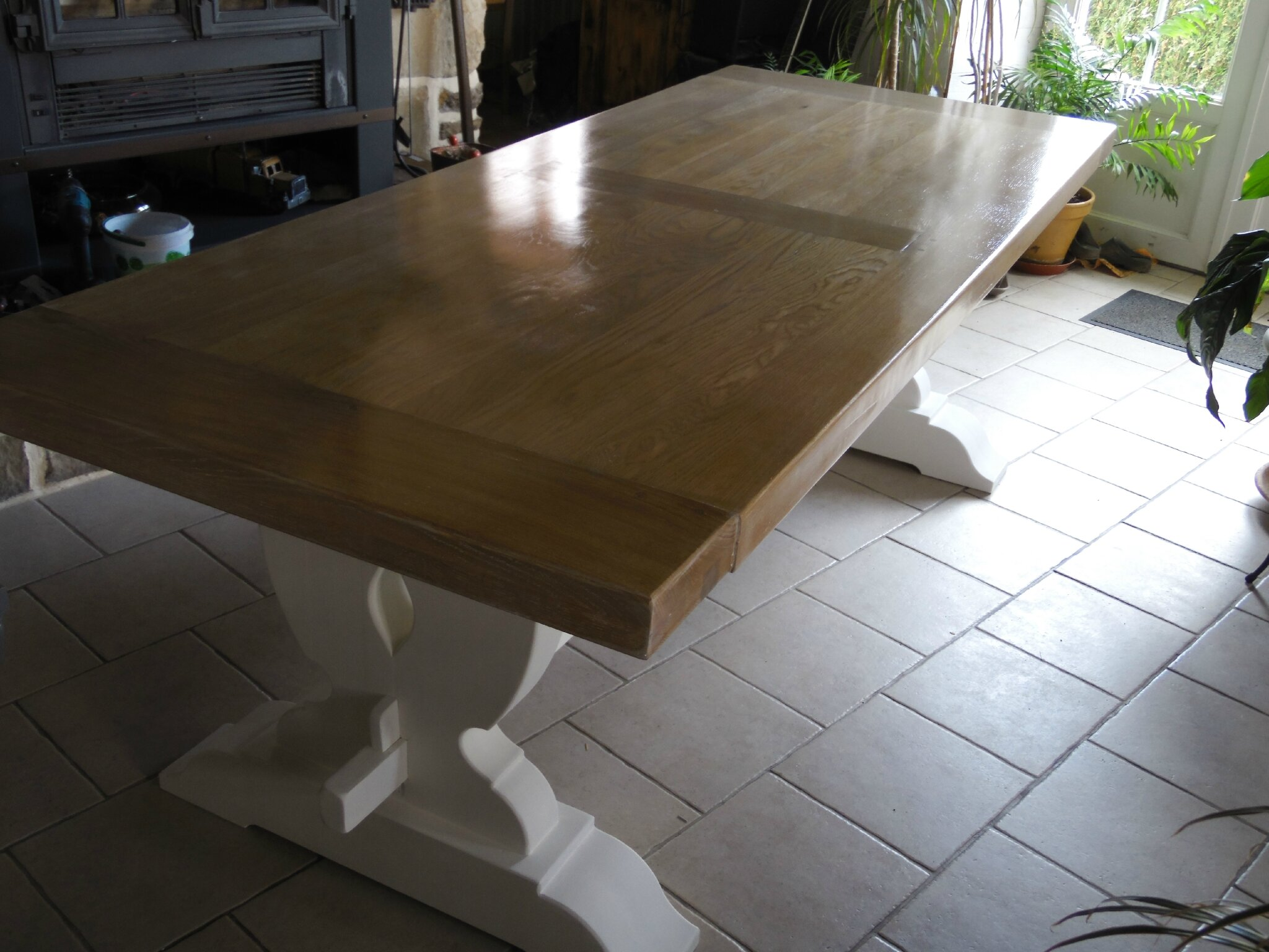 Ancienne table de ferme la d co de g g for Salle a manger blanc ceruse occasion