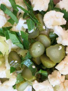 22 - cornichons, chous fleurs, oseille