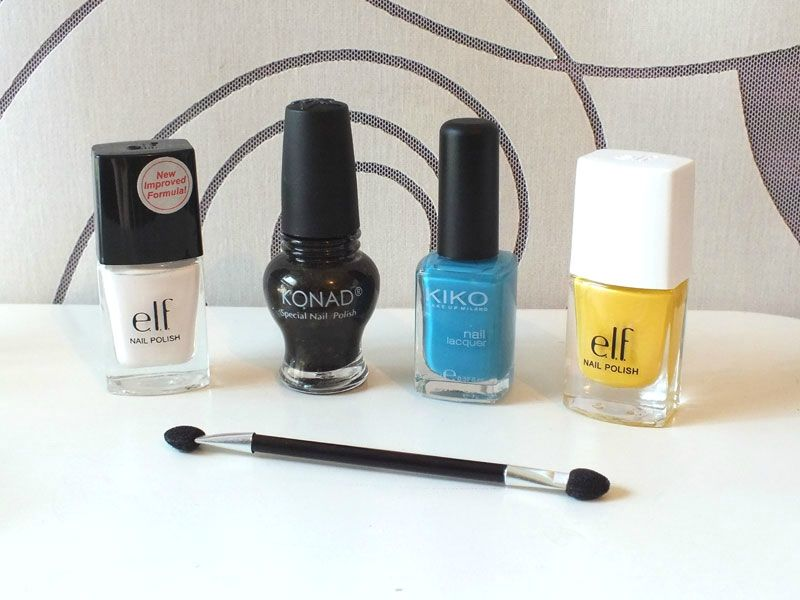 nail-art-birds-sky-clouds-kiko-elf-white-sunflower-cheeky-charming-princess-stamping-sun-soleil-oiseaux (3)