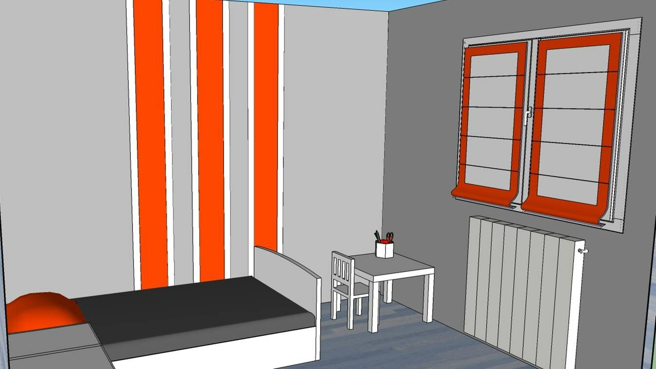 Chambre bebe gris et orange ~ Design de maison
