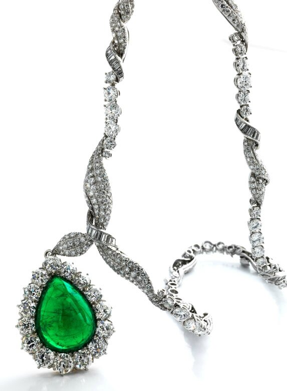 Emerald and diamond necklace by Verdura