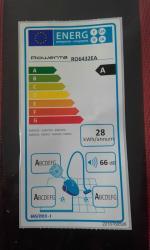 Etiquette energetique aspirateur