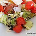 Salade chaude aux risonis