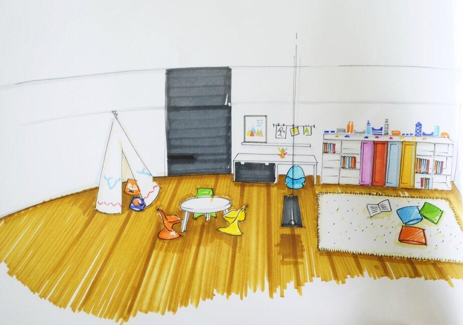 une salle de jeu de r ve coach deco lille. Black Bedroom Furniture Sets. Home Design Ideas