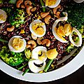 Salade de riz rouge de camargue aux brocolis