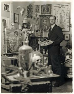 Mark Ryden in his studio