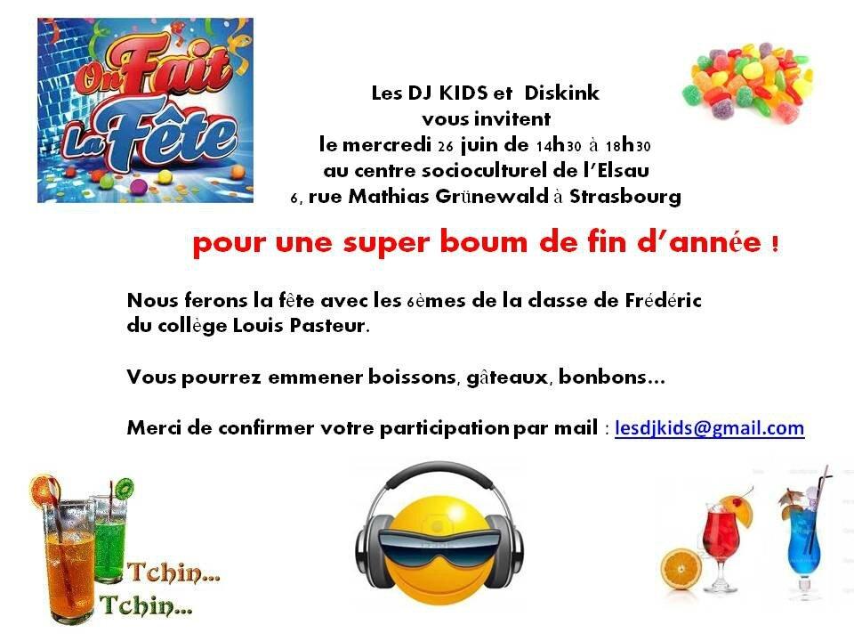 invitation - Photo de 2013 juin - La boum des 6èmes - LES ...