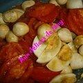 Tomate /mozzarella/oeuf dur