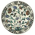 An iznik polychrome pottery dish, turkey, late 16th century