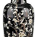 Chinese famille noire porcelain vase, 19th century