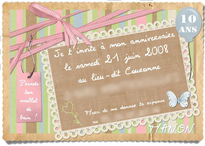 bien connu carte invitation anniversaire ado yu96 montrealeast. Black Bedroom Furniture Sets. Home Design Ideas