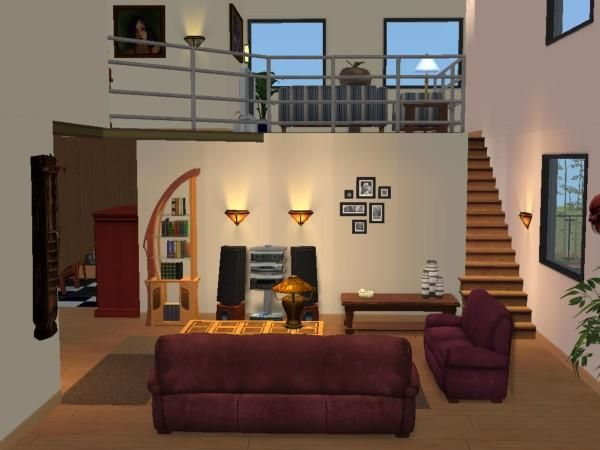 plan maison sims 2 joy studio design gallery best design. Black Bedroom Furniture Sets. Home Design Ideas