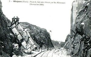 DESTRUCTION PONT DU CALVAIRE novembre 1918