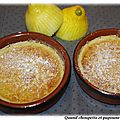 Pudding au citron
