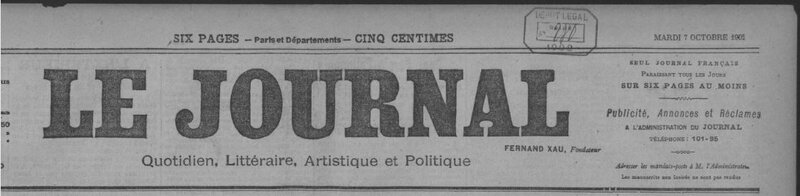 1902 Le Journal Le Queffelec boucher 1