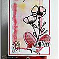 Coeurs, fleurs & aquarelle