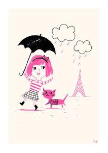 affiche-paris-pluie-rose-marion