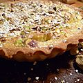 Tartelettes rhubarbe-pistaches