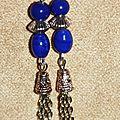 21 - perles bleues et pampilles